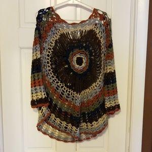 Crochet top and brown top